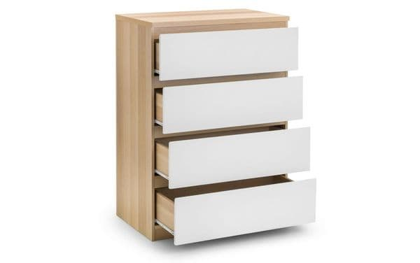 Jupiter Scandinavian Oak & White Chest of Drawers